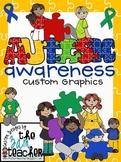 Autism Awareness Clip Art/Graphics: Set 2