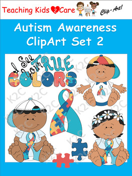 Autism Awareness ClipArt Set 2