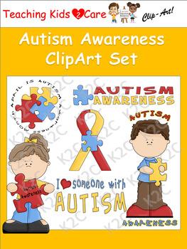 Autism Awareness ClipArt Set