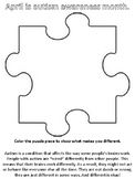 Autism Awareness Color Contest page