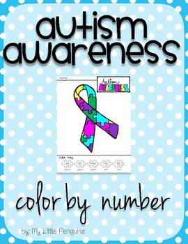 Autism Awareness Color by number