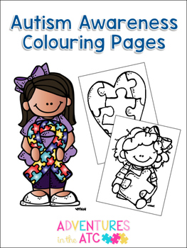 Autism Awareness Colouring Pages