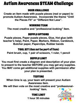 Autism Awareness {TEST PREP} Reading, Writing, STEM Packet