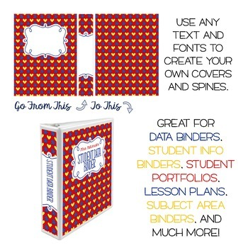 Autism Awareness - Five Editable Binder Cover Sets - For Data, Lesson Plans, etc