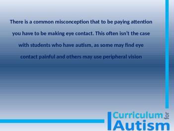 Autism Awareness FREE Teacher Training Power Point
