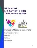 Autism Awareness Lesson Plan, Informational Text reading & writing task CCSS