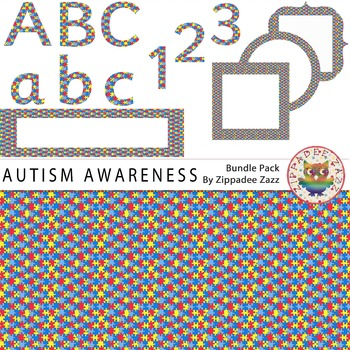 Autism Awareness Month - 71 items! Background/frames/headers/letters/numbers