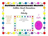 Autism Awareness Month Bulletin Board Decorations (Set 1)