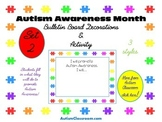 Autism Awareness Month Bulletin Board Decorations (Set 2)