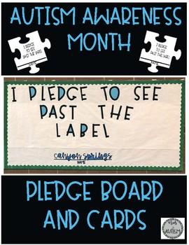 Autism Awareness Month Pledge Board