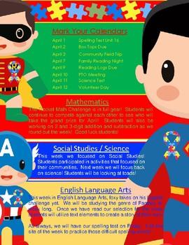 Autism Awareness + Newsletter Template (portrait)