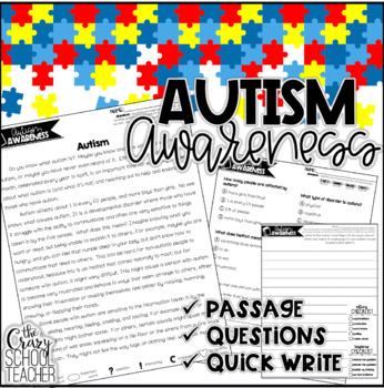 Autism Awareness Passage | April Close Reading