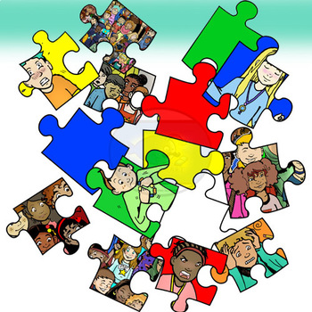autism awareness people and puzzles clip art 30 pieces by rh teacherspayteachers com