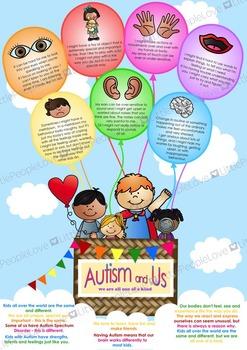 Autism Awareness Poster - Hot Air Balloon