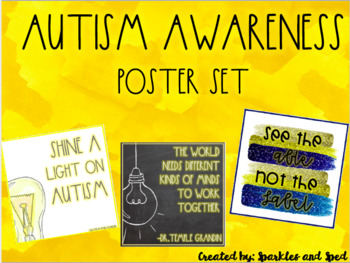 Autism Awareness Poster Set