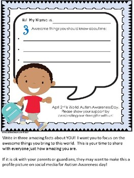 Autism Awareness Printable to Celebrate Your Students' Strengths!