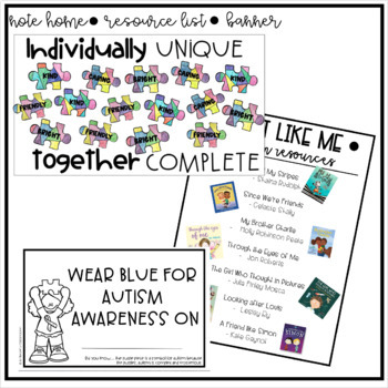 Autism Awareness Puzzle Piece Glyph Activity