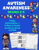 Autism Awareness Reading and Writing Activity