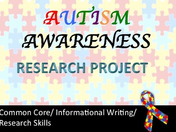 Autism Awareness Mini-Project/CCSS Aligned/Middle and High School