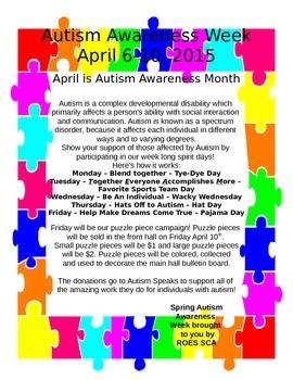 Autism Awareness Spirit Week