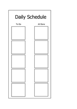 Autism Awareness: Visual Schedule Freebie