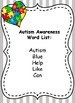 Autism Awareness Activities for Kindergarten
