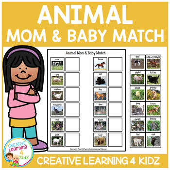 Animal Mom & Baby Match