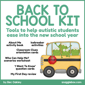 Autism Back to School Support Kit