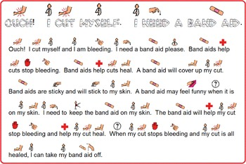 Autism:  Band Aid Social Story