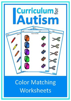 Back to School Basic Concepts Color Match Autism Special Education