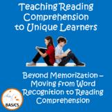 Autism Reading Comprehension - Moving Beyond Memorization