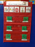 Autism Behavior Chart system with picture and color supports