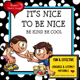 BULLY BE KIND BE COOL Early Reader Literacy Circle