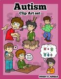 Autism Behaviors Clip Art Set