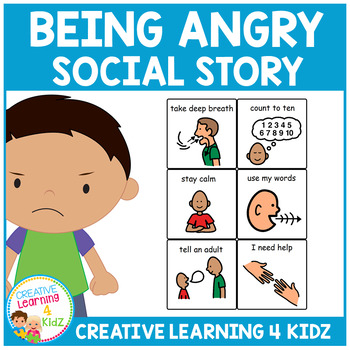Social Story Being Angry Book + Cards Behavior Autism