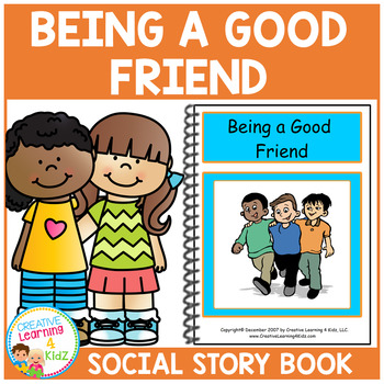 Social Story Being a Good Friend Book Behavior Autism