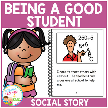 Social Story Being a Good Student Behavior Book Autism