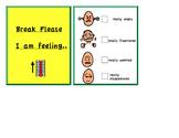 Autism Break Cards