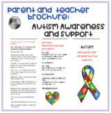 Autism Brochure- Information  and support for parents and