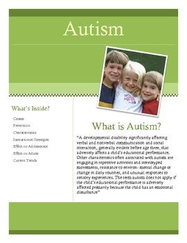 Autism Brochure for Teachers and Parents