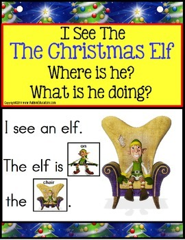 CHRISTMAS ELF Build A Sentence with Pictures Interactive A