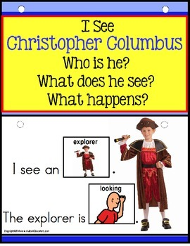 CHRISTOPHER COLUMBUS- Build a Sentence with Pictures Interactive Activity Book