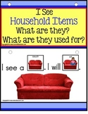 AUTISM Build A Sentence with Pictures Interactive with HOUSEHOLD OBJECTS
