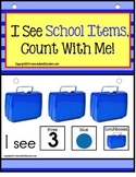 Adapted Book for Special Education and Autism - SCHOOL ITEMS Sentence Building