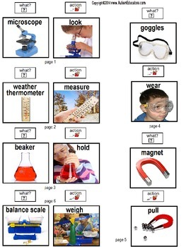 Build A Sentence with Pictures Interactive SCIENCE ITEMS for Autism