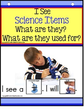 Adapted Books SCIENCE Build A Sentence with Pictures Interactive for Autism