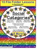 AUTISM Categories of Social Behavior Okay and Not Okay 10 File Folder Games