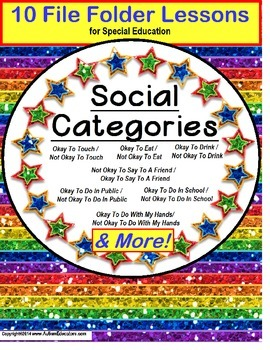 AUTISM Categories of Social Behavior Okay and Not Okay 10 File Folder Games