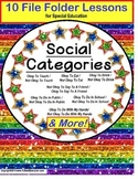 AUTISM Social Skills Behavior Okay/Not Okay 10 File Folder Activity for Autism