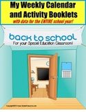 Autism Calendar Activity Booklets for Special Education For The SCHOOL YEAR